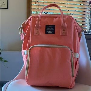 Salmon Pink Baby Backpack